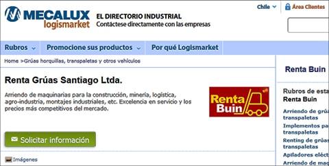 Renta Buin inicia contrato con Mecalux Logismarket