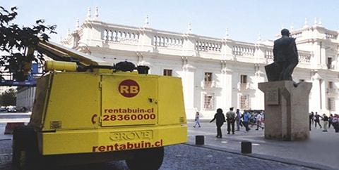 Trabajos en la Plaza de la Ciudadanía – Santiago